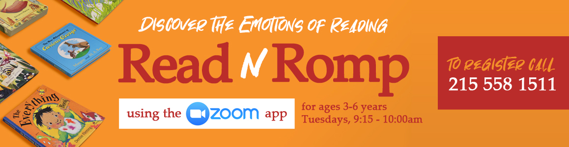 Read N' Romp, ages 3-6 on Zoom - Tuesdays, 9:15am